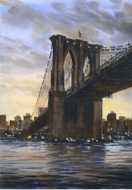 Painting of the Brooklyn Bridge
