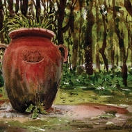 Painting of a big urn