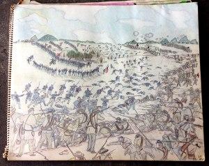Civil War pencil drawing