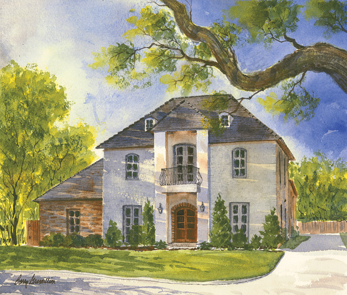 Watercolor of a house