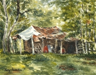 Painting of a shed