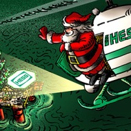 Santa and helicopter
