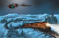 Santa and train