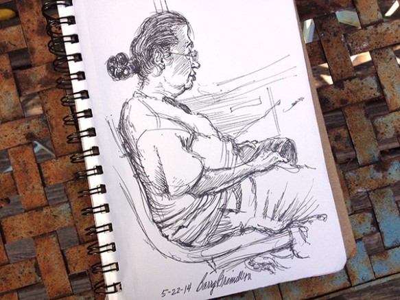 Woman on the bus