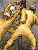 illustration of oilfield workers