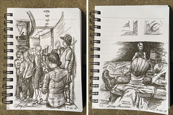pen and ink sketches