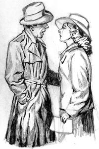 Graphite sketch: Rick & Ilsa