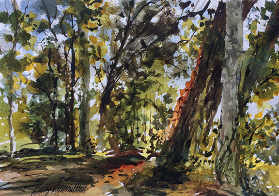 Memorial Park watercolor