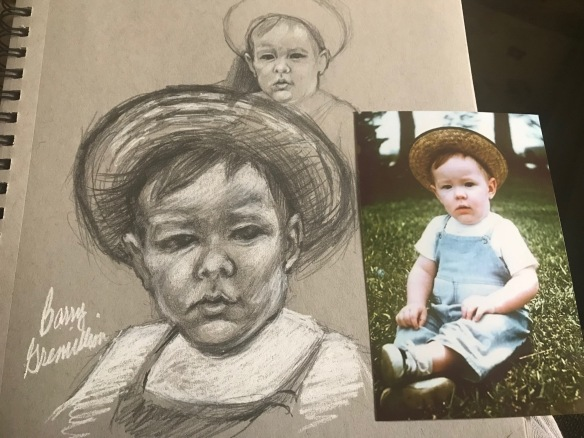 Drawing of the artist as a toddler